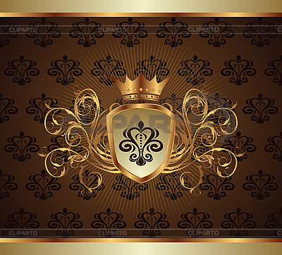 Gold invitation frame | Stock Vector Graphics |ID 3085317