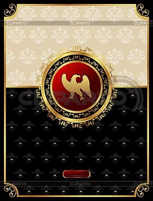 Vintage-Hintergrund mit heraldischem Adler | Stock Vektorgrafik |ID 3085353