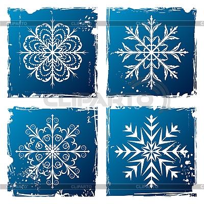 Grunge płatki śniegu   Klipart wektorowy  ID 3085759