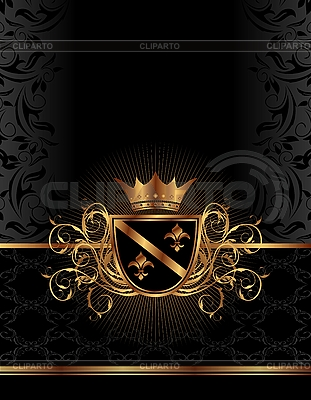 Golden ornate frame with crown | Stock Vector Graphics |ID 3085769
