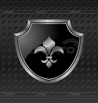 纹章盾金属背景 | 向量插图 |ID 3085869