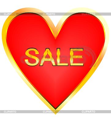 Serce na sprzedaż | Klipart wektorowy |ID 3085978
