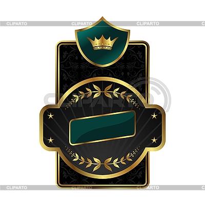金框王室标签 | 向量插图 |ID 3086098