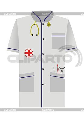 Medical Morgenrock aus auf weiß | Stock Vektorgrafik |ID 3086279