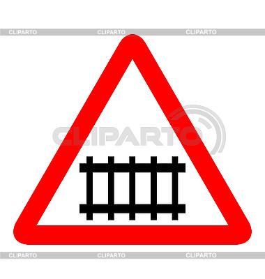 路标 - 铁路   向量插图  ID 3086624