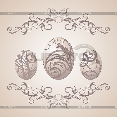 Vintage Easter background with eggs | Stock Vector Graphics |ID 3086888