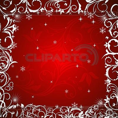 Roter Blumen-Winterrahmen | Stock Vektorgrafik |ID 3086999