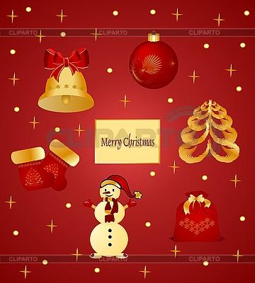 크리스마스 품목   벡터 클립 아트  ID 3087051