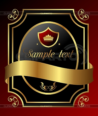 Decorative ornate gold frame | Stock Vector Graphics |ID 3191224