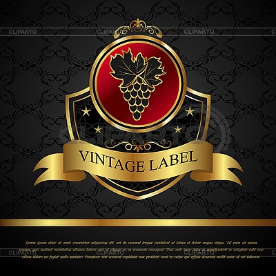 Golden label for packing wine | Stock Vector Graphics |ID 3191234