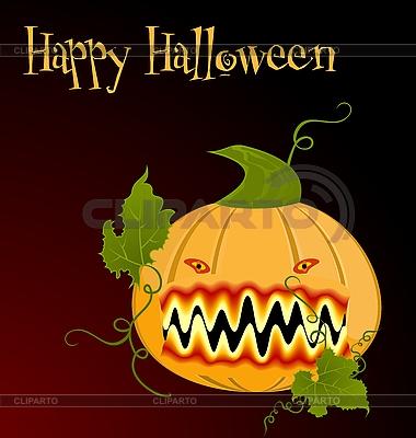 The orange halloween pumpkin | Stock Vector Graphics |ID 3200063