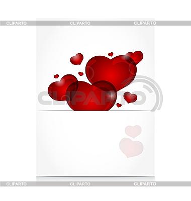 Romantyczny list z cute serca | Klipart wektorowy |ID 3205139