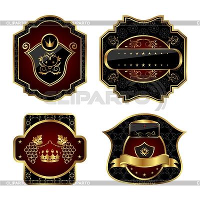黑色和金色标签 | 向量插图 |ID 3243937
