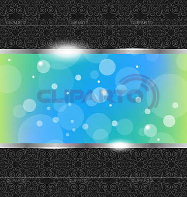 Abstract metallic background with floral texture   Stock Vector Graphics  ID 3283676