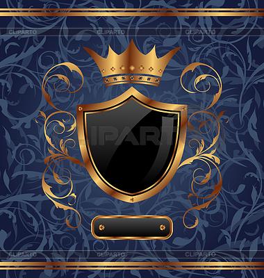 Złoty zabytkowe ramki z elementów heraldycznych | Klipart wektorowy |ID 3331859