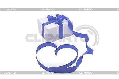 Geschenkbox mit blauer Schleife | Foto mit hoher Auflösung |ID 3104958
