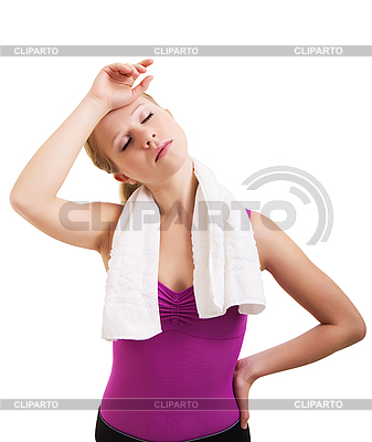 Tired athlete woman | High resolution stock photo |ID 3123321