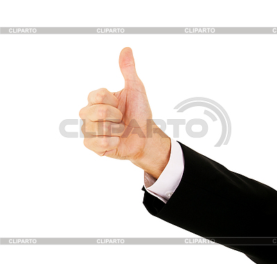 Businessman`s Hand With Thumb Up   High resolution stock photo  ID 3123327