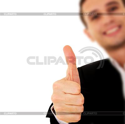 Geschäftsmann mit Finger nach oben | Foto mit hoher Auflösung |ID 3123662