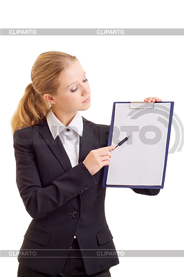 Business woman with represent folder | High resolution stock photo |ID 3278251