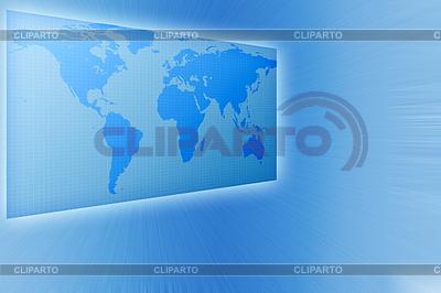 商业世界地图的蓝色调   高分辨率插图  ID 3279869