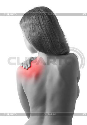 Junge Frau hält die Schulter in Schmerzen | Foto mit hoher Auflösung |ID 3280090
