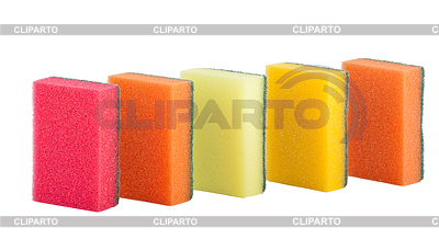 Group of kitchen colorful sponges | High resolution stock photo |ID 3280167