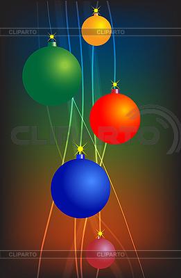 Helle Linien mit Weihnachtskugeln   Illustration mit hoher Auflösung  ID 3089261