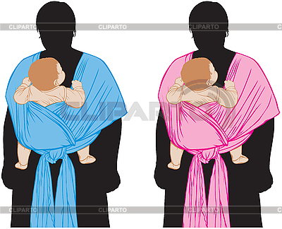 Baby in sling | Stock Vector Graphics |ID 3090017