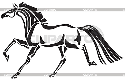 Koń | Klipart wektorowy |ID 3090061