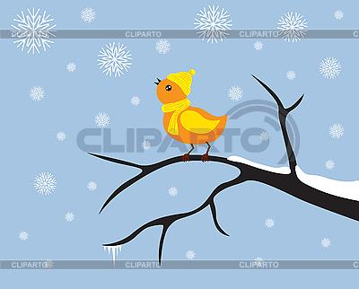 Little bird on branch | Stock Vector Graphics |ID 3090286