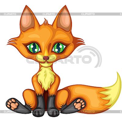 Милая маленькая лиса | Векторный клипарт |ID 3112771
