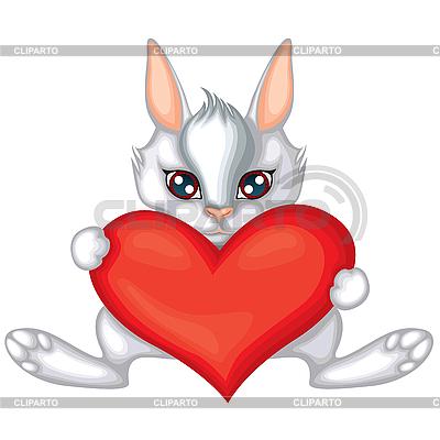 Rabbit with heart | Stock Vector Graphics |ID 3113245