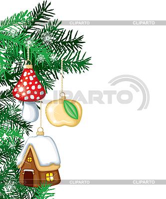 Weihnachtsbaum mit Weihnachtsschmuck | Stock Vektorgrafik |ID 3119934