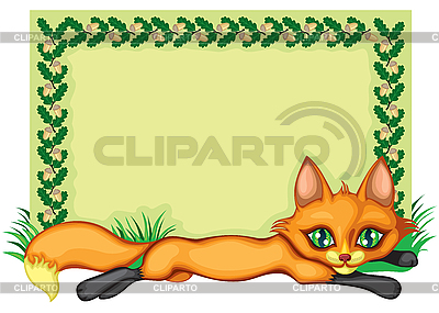 Frame with fox | Stock Vector Graphics |ID 3126507