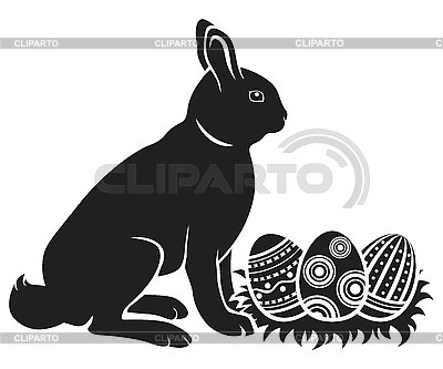 Easter bunny and eggs | Stock Vector Graphics |ID 3130843