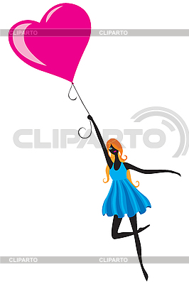 Girl with the balloon   Stock Vector Graphics  ID 3149021