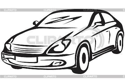 Kontur samochodu | Klipart wektorowy |ID 3158988