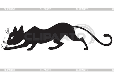 黑猫简介 | 向量插图 |ID 3184675