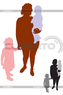 Mother and children | Stock Vector Graphics |ID 3297187