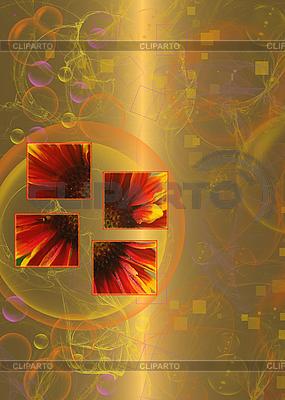 Abstrakter goldener Blumenhintergrund | Illustration mit hoher Auflösung |ID 3092839