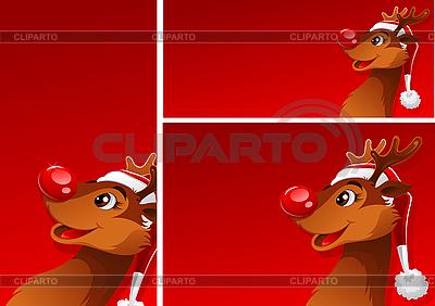 Banners with reindeer | Klipart wektorowy |ID 3098079