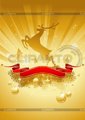 Gold Christmas Card | Stock Vector Graphics |ID 3098187