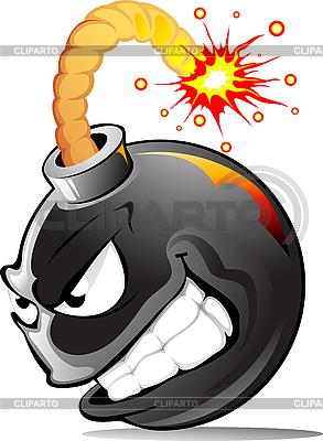 Cartoon evil bomb | Stock Vector Graphics |ID 3098214