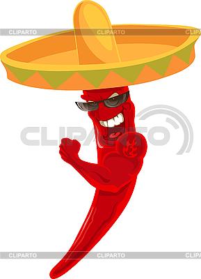 Meksykańska strong papryczka chili | Klipart wektorowy |ID 3098219