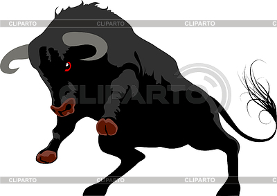 Agresywny byk | Klipart wektorowy |ID 3318558