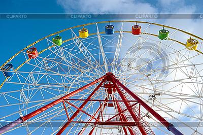 Ferris wheel in amusement park   High resolution stock photo  ID 3091124