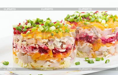 Salat mit Hering und Gemüse | Foto mit hoher Auflösung |ID 3091152