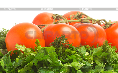 Tomatoes, dill and parsley | High resolution stock photo |ID 3092987