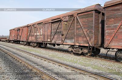 Alten rostigen Waggons auf Bahn | Foto mit hoher Auflösung |ID 3091308